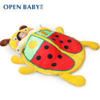 男孩婴幼儿睡袋秋冬季恒温卡通宝宝防踢被子小孩新生儿童睡袋加厚 戏水玩具 婴儿睡袋(甲虫款) 105cm