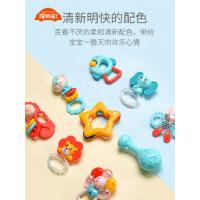 婴儿手摇铃玩具0-3-6个月新生儿宝宝可啃咬抓握牙胶安抚益智早教