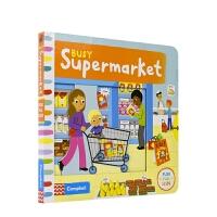 【首页抢券300-100】Busy Supermarket 忙碌Busy系列机关书 超市篇 事物认知 英语绘本 机关纸板