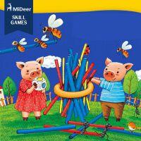 MiDeer 小猪搭木棍 桌面游戏 游戏棒 亲子互动桌游益智玩具6岁