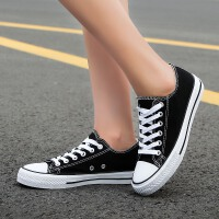 秋季男士帆布鞋男鞋休闲鞋男韩版学生布鞋运动板鞋情侣低帮潮鞋子
