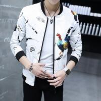 男士外套春秋新款韩版修身潮流薄花夹克男青年棒球领衣服
