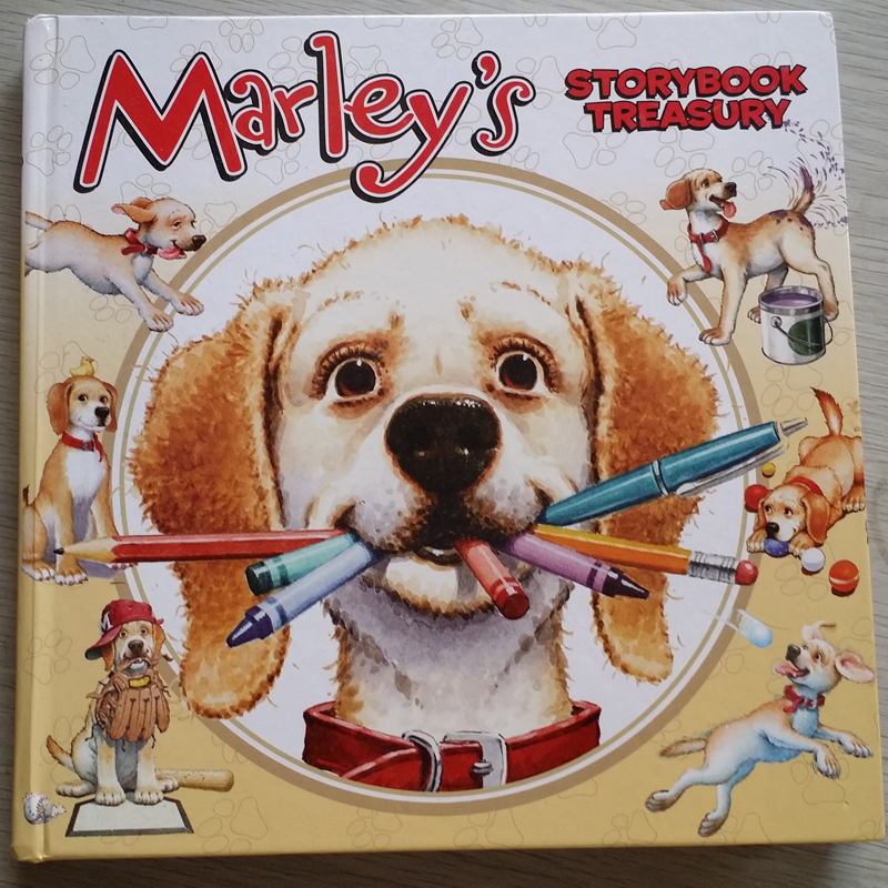 Marley's Storybook Treasury 6本合一 精装合集大开本 Marley's Big Adventure; Strike Three, Marley!, Marley and t家长们推荐的经典有趣故事书 Snow Dog Marley; Thanks, Mom and Dad!; Marley: Messy Dog