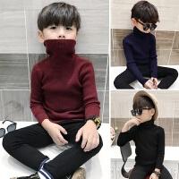 男童毛衣套头高领秋冬款童装中大童儿童针织衫宝宝打底衫