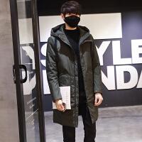 冬季男士加厚羽绒服中长款修身外套男青少年韩版潮流羽绒衣
