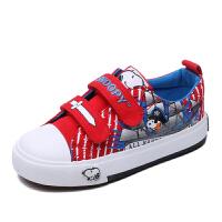 史努比童鞋男童帆布鞋时尚印花板鞋中小童布鞋新款运动鞋