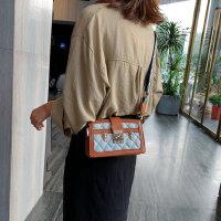 小香风包包女户外韩版时尚百搭菱格撞色单肩斜挎小方包
