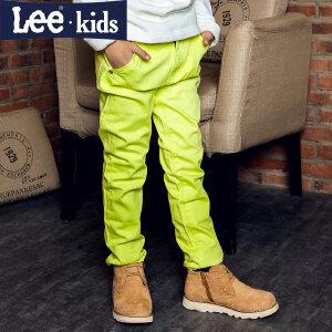 LEE童装 2017秋季新品男童时尚休闲纯色长裤 中大童直筒牛仔裤