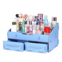 大号木质化妆品收纳盒 韩国可爱抽屉桌面护肤品收纳盒整理架E2022