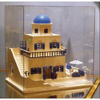 diy小屋 圣托里尼岛希腊爱琴海手工拼装别墅大房子模型生日礼物女