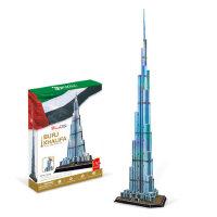 3D仿真立体纸模手工拼图 哈里法塔迪拜塔DIY拼装模型玩具