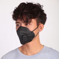 防尘口罩粉尘工业打磨煤矿雾霾PM2.5呼吸阀透气易呼吸一次性黑色