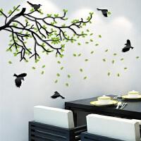 路灯树3d亚克力水晶立体墙贴卧室沙发墙客厅墙电视背景墙创意墙贴