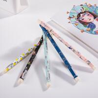 韩国文具 可爱卡通中性笔卡通绘画黑色水笔水芯笔 0.38笔芯