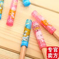 得力文具 deli 0505 铅笔套 铅笔笔帽 塑料 铅笔笔盖 儿童安全 6只价