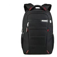 男士背包韩版潮女高中学生书包休闲商务电脑包旅行f 双肩包男 黑红小版