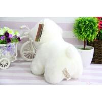 北极熊毛绒玩具小号小白熊趴趴熊抱枕女孩儿童生日礼物玩具熊 白色