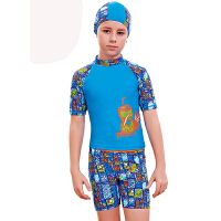 YINGFA英发 儿童卡通分体平角游泳衣Y0328 儿童防晒保暖衣服