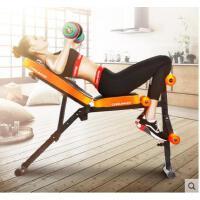 折叠收纳耐用男士女哑铃凳仰卧起坐健身器材家用多功能腹肌仰卧板卧推椅运动
