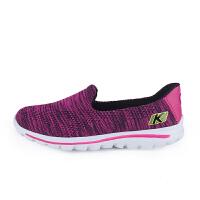 KELME卡尔美 K16X504 女式健步鞋 网面轻便休闲鞋 防滑透气运动鞋