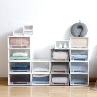 衣服收纳箱 塑料抽屉式透明衣柜收纳柜2020新款内衣收纳盒衣物整理箱家居衣柜收纳