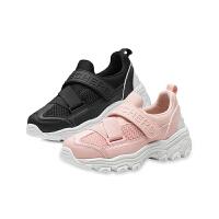 斯凯奇(Skechers)鞋熊猫男童女童鞋经典魔术贴亲子运动休闲鞋996295L黑色