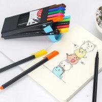 儿童绘画描线手绘勾边钩线记号笔细头美术手绘勾沟线彩色细笔