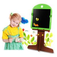 【【领券立减50元】米米智玩 儿童卡通小树造型双面磁性画板写字板绘画画架可分拆活动专属