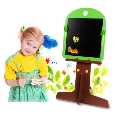 【领券立减50元】米米智玩 儿童卡通小树造型双面磁性画板写字板绘画画架可分拆活动专属【领券立减50元】 儿童早教益智玩具大促