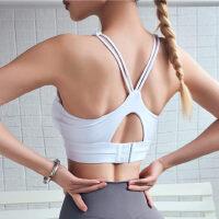 跑步瑜伽运动文胸背心罩衫聚拢防震定型美背内衣吊带外穿健身bra