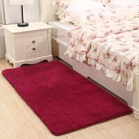加厚长毛卧室满铺床边仿羊毛地毯儿童地垫底垫灰色可爱长方形家用