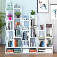 书架 现代简约家用客厅创意落地置物收纳架简易书橱个性卧室储物整理架子多功能学生书柜