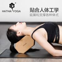 哈他软木瑜伽砖初学者正品高密度天然实木环保加厚健身训练瑜珈砖