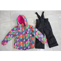 201802272112153372017儿童滑雪服套装加厚防水男童女童防寒户外服装防风两件套雪乡 黑色 配黑色裤子套