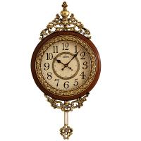 客厅个性挂钟大气欧式复古钟表时尚创意钟家用墙壁钟简约时钟 20英寸