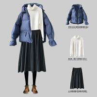 羽绒服 新品女韩版宽松bf加厚女 潮短款棉衣学生ins面包服外套冬季时尚套装