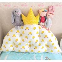 儿童公主房皇冠靠枕冬季韩版榻榻米床头靠垫宿舍软包拆洗