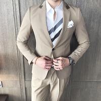 秋款英伦商务领口撞色修身韩版正职业装新郎西服男外套韩版西装