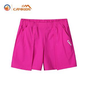 CAMKIDS女童裤子夏季五分裤2018新款儿童短裤女童户外运动裤