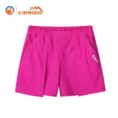 CAMKIDS女童裤子夏季五分裤2018新款儿童短裤女童户外运动裤尾品汇大促