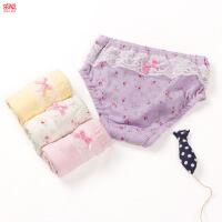 Joyo roy/茁阳 新款创意花边女童内裤儿童纯棉内裤女宝宝内衣裤婴儿三角内裤