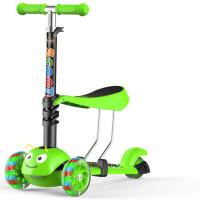 儿童滑板车三合一3-6-14岁小孩2三四轮米高闪光踏板车滑滑车玩具 不