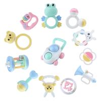 手摇铃牙胶套装婴儿玩具0-1岁宝宝