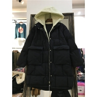 20180423070517495B5冬棉袄大码女装加厚外套棉衣女中长款韩版连帽假两件套1.05