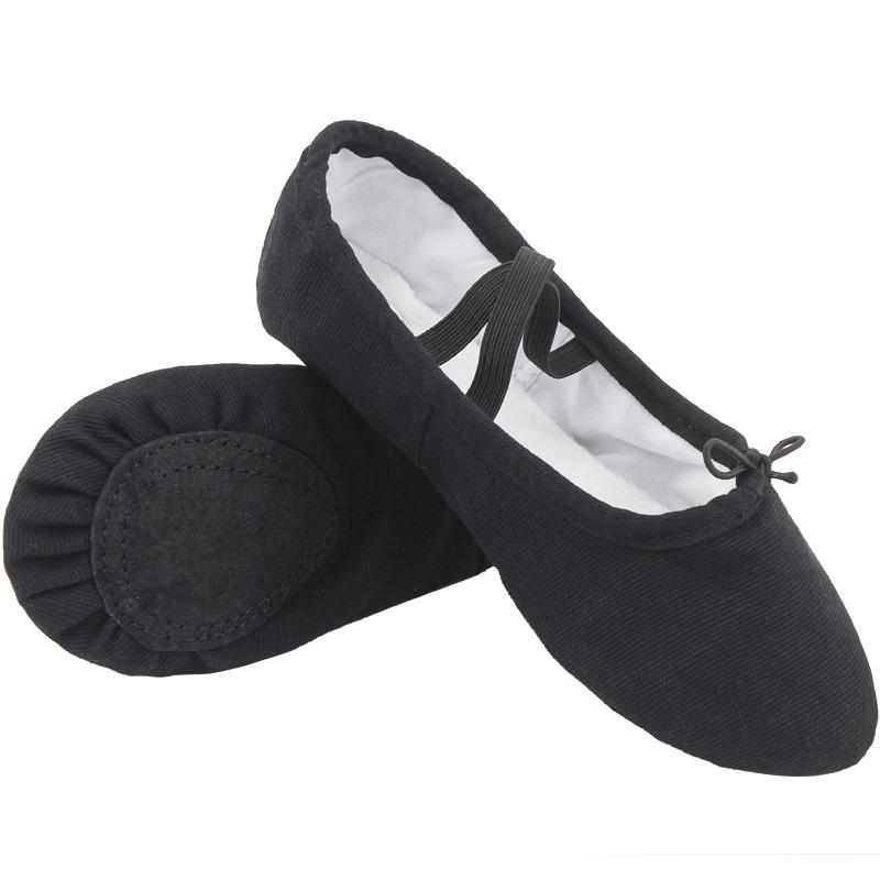 儿童芭蕾舞鞋大码男式形体鞋男士猫爪鞋黑色舞蹈鞋软底练功鞋