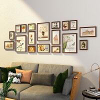 欧式相框创意挂墙画框定制16 7寸婚纱照像框架照片墙实木组合套装 适合2米-3.5米墙面
