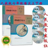 部编本初中语文教师用书七年级语文上下册全套2本人教版+4CD 教师教学用书语文7年级上册语文七年级语文下册初一语文教师