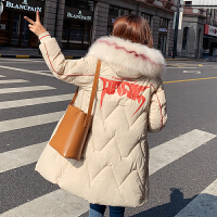 【限时抢购】棉服女冬中长款2019年新款韩版宽松棉袄港风东大门棉衣外套学生