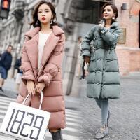 冬季外套女棉衣中长款韩版新款加棉袄子加厚宽松长款大衣