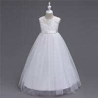 中大童长款公主裙儿童婚纱裙走秀主持人晚礼服钢琴女童演出服